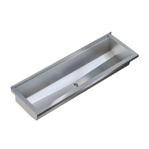 Franke PLANOX PL30-UK 3000mm Stainless Steel Wash Trough (No Tap Holes)